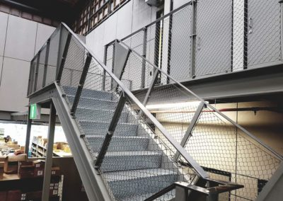 Balustrade mesh infill installed by srs group
